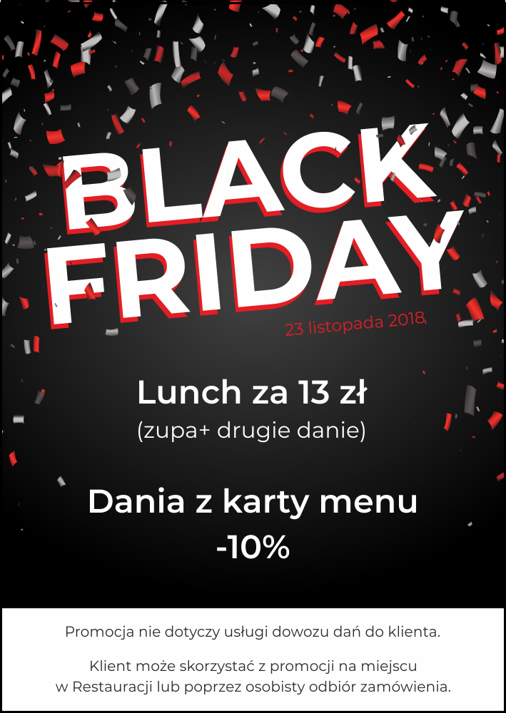 Black friday w Restauracji Portius 23 listopada